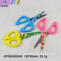 Plastic handle children craft scissors shape cutting