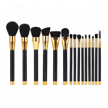 15PC PROFESSIONAL GOLD TRIM PINSEL SET