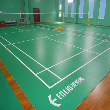 Vinyl badminton flooring mat with BWF