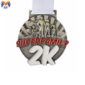 Metal material funny family race medal