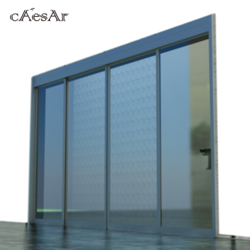 Commercial automatic sensor glass sliding door
