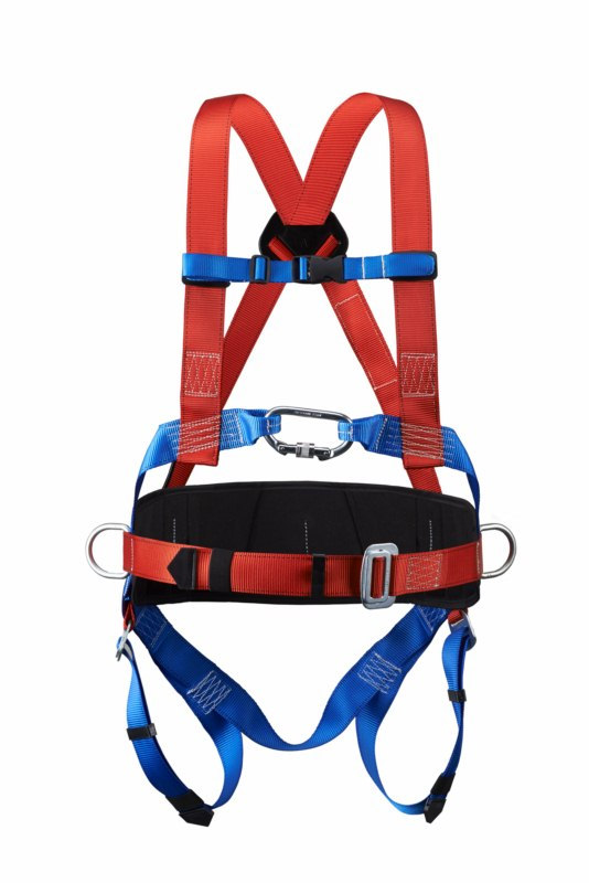 100% Polyester safety harness and lanyard