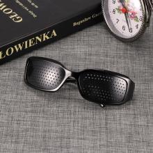 New Arrival Black Unisex Vision Care Pin hole Eye Exercise Eyeglasses Pinhole Glasses Eyesight Improve plasticHigh Quality