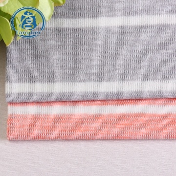 knitted fabric polyester stripe cotton for sweater