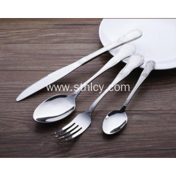Stainless Steel Utensils Forks Spoons Knives Set
