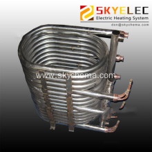 Titanium immersed coil type heat exchanger