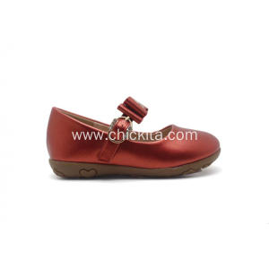 Pearized PU With Bowknot TPR Princess shoe