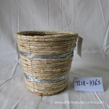 Round Maize Rope Flower Pot