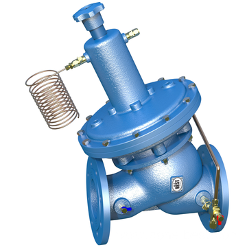 Self-actuated differential pressure control valve DN100