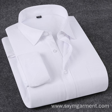 Men's office shirt with warm plush in spring