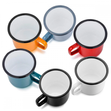 Multifunctional enamel coffee cup for office