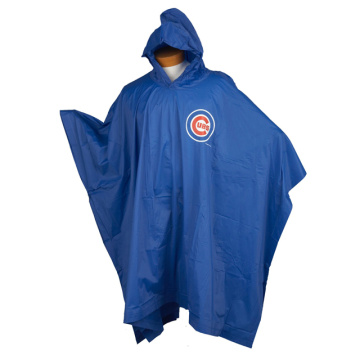 Reusable PVC Rain poncho with customized logo printing