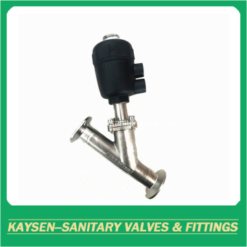 DIN Sanitary clamped angle seat valves