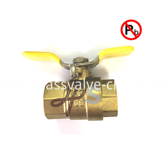 Low Lead Full Port 600 Wog Npt Thread Brass Ball Valve
