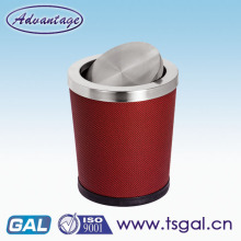 Galvanized steel trash can