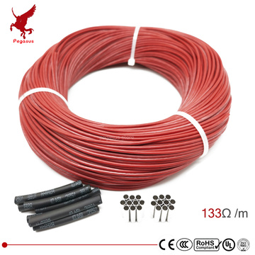 3k 133ohm silicone rubber carbon fiber heating cable 5V-220V floor heating low cost high quality infrared heating wire