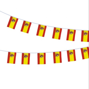 Wholesale national polyester fabric Spain bunting flag