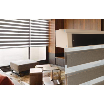 100% Polyester Double Roller Blinds Zebra  Gauze