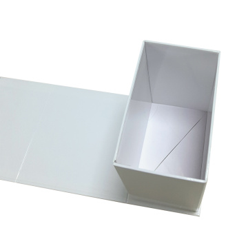 Flat white folding box for Christmas gift packaging