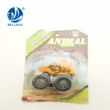 wholesale promotion gift toys animal head mini pull back car with 4 style assorted