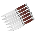Garwin Six piece pakka wood steak knives set