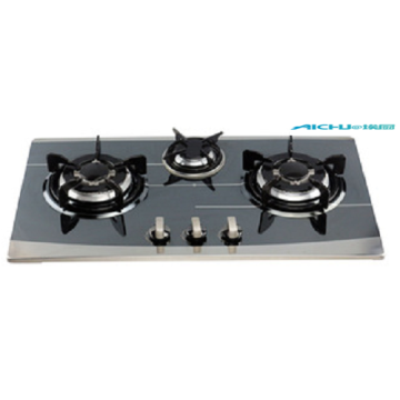 3 Burners Tempered Glass Kitchen Gas Stoves