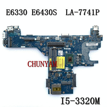 I5-3320M FOR Dell Latitude E6330 E6430S Laptop Motherboard QAL70 LA-7741P CN-0850YT 850YT Mainboard 100% tested