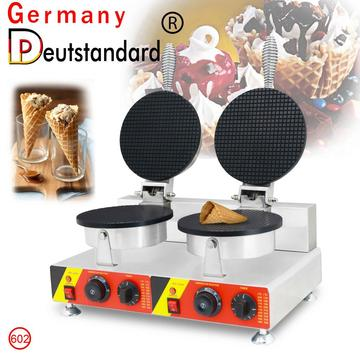 commercial egg  non stick cone waffle maker with factory  price