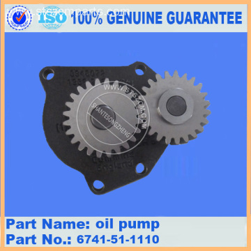PC360-7 PC300-7 wa400-5 oil pump 6741-51-1110