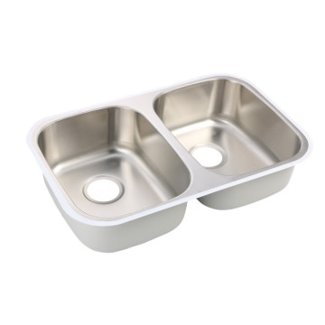 Under-mounted Double Bowl Basin for kitchen