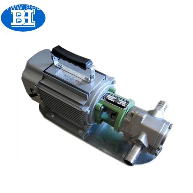 stainless steel portable diesel fuel oil transfer gear pump