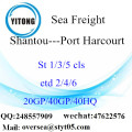 Shantou Port Sea Freight Shipping To Port Harcourt