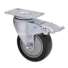 Medium Duty PVC (PU) Caster Wheel- Single Bearing