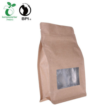 Slider Zip Top Printing Flat Bottom Tea Leaf Packaging Bag
