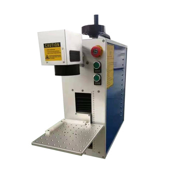 20w CNC handheld laser marking machine rotary for metal nameplate