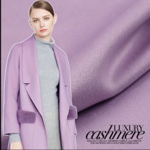 Light purple double-faced cashmere fabric cashmere coat fabric autumn and winter purple cashmere wool fabric wool cloth 150cm