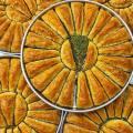Traditional fresh delicious Turkish Carrot Slice baklava with pistachio. Dessert Baklava Famous Brand Turkish Baklava pistachio