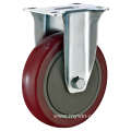 3inch Fix Red PU With Cover Castors