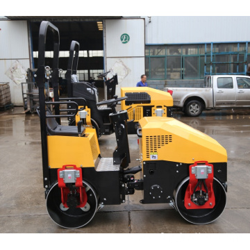 Wholesale 1ton roller compactor double drum vibratory ride on road roller FYL-890