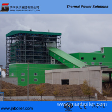 130 T/H Water-Cooling Vibrating Grate Rubber Fired Boiler