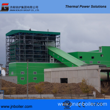 130 T/H Water-Cooling Vibrating Grate Mud Fired Boiler