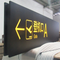 Airport Directional LED Light Box Signage