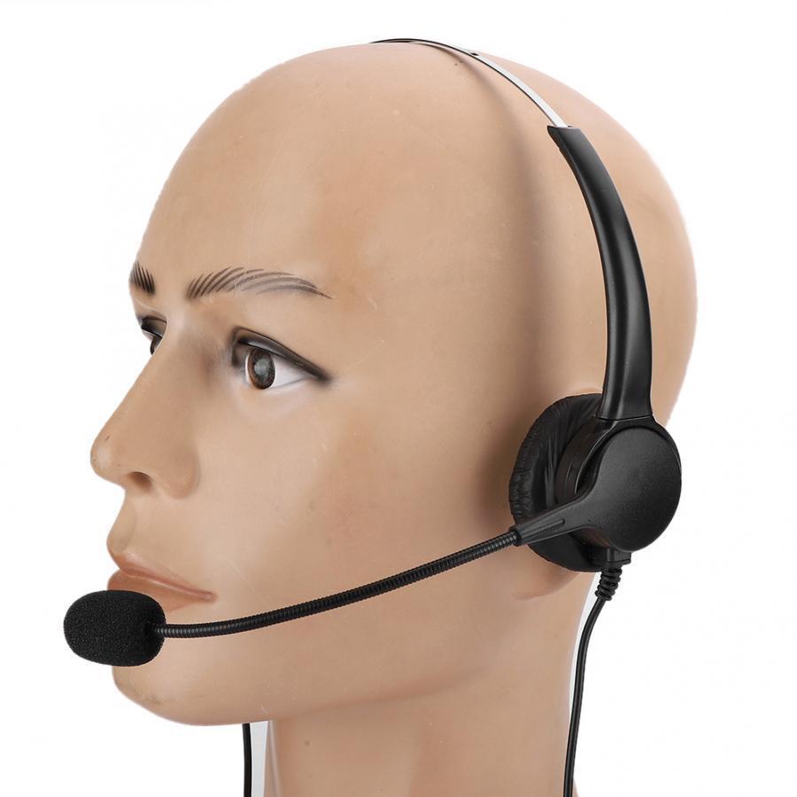 Home Office Headset Binaural Earphone with Microphone for Telephone Landline Phone Earphone with Microphone