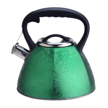 Whistling Green Color Kettle with Anti-Hot Handle