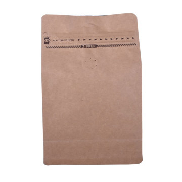 Compostable block bottom kraft paper bag