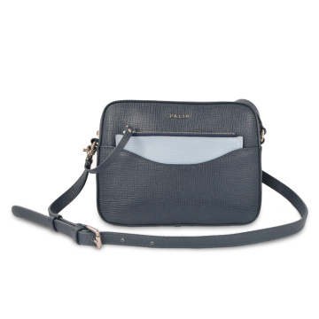Women Leather Crossbody Bag With Zipper Clutch Purse