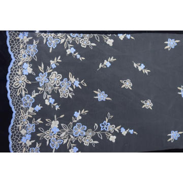 Fashion Design Polyester Embroidered Mesh Fabric for Cloth