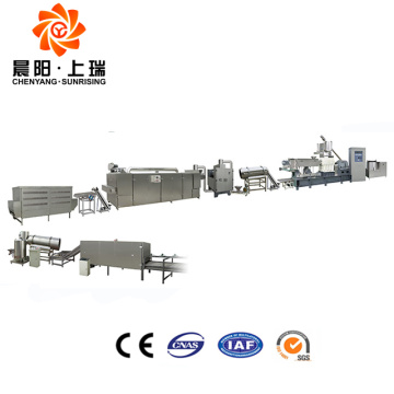 Breakfast cereals food extruder corn flakes processing line