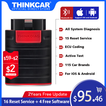 ThinkDiag All System Bluetooth Code Reader Obd2 Scanner Automotivo Old Version Car Diagnostic tool TPMS OIL Reset PK Autel AP200