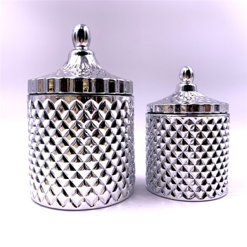 handmade silver glass jars